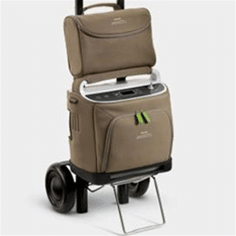 SimplyGo Portable Concentrator with Cart and Case
